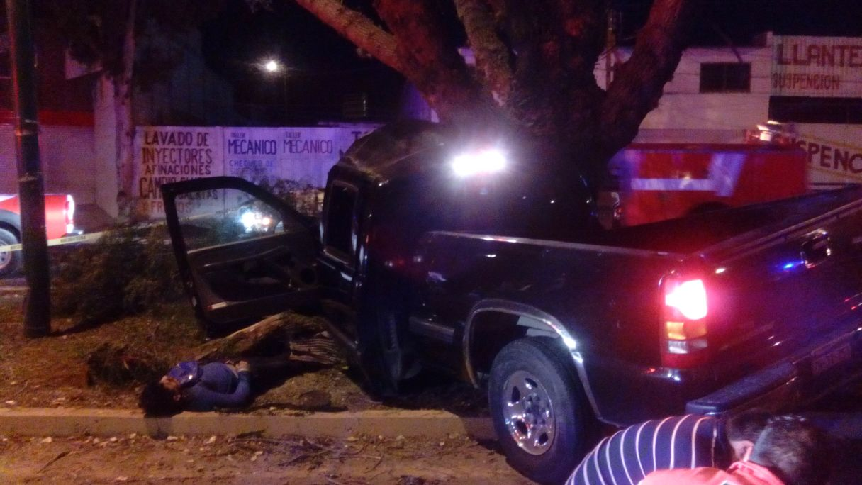 Choca auto contra árbol y mueren dos | Articulo 7